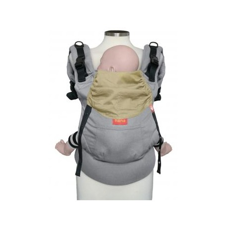 Hana Baby Organic Carrier - Light Grey/Yellow