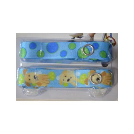 Bebe Avenue Toy Strap - Puppy/Blue Dots