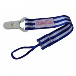 Bebe Avenue Pacifier Holder - Blue Stripes