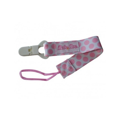 Bebe Avenue Pacifier Holder - Pink Dots
