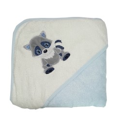 Bebe Bamboo Hooded Towel Raccoon