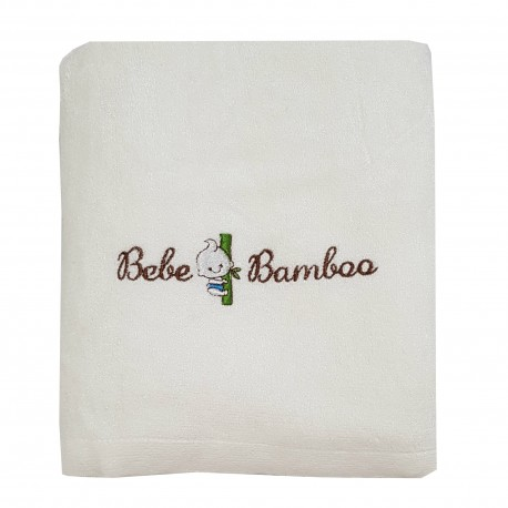 Bebe Bamboo 100% Bamboo Adult Bath Towel White