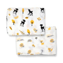 Bebe Bamboo Bamboo Muslin Swaddle - You are so Deer to me