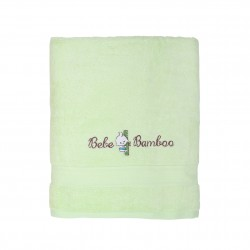 Bebe Bamboo - 100% Bamboo Kids Bath Towel - Lime Cream