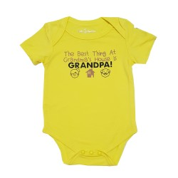 Bebe Bamboo  Cute Saying Onesie - The best thing at Grandma's House is Grandpa!