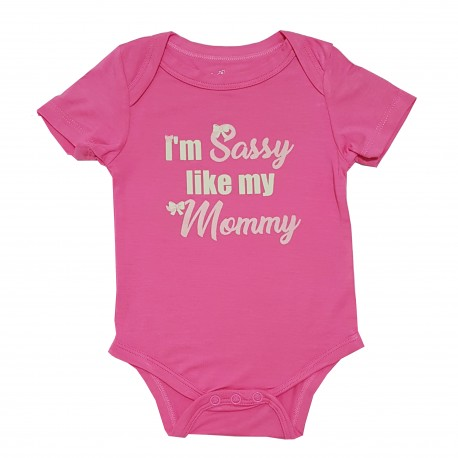 Bebe Bamboo  Cute Saying Onesie - I'm Sassy like my Mommy