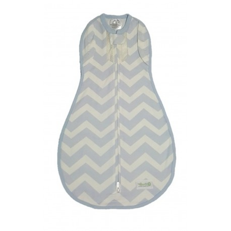 Vented Convertible Woombie - Dreamy Blue Chevron