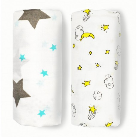 Lunavie Organic Bamboo Swaddle (Star)