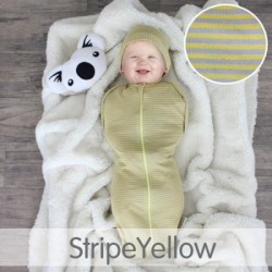 Cuddle Me Hybrid Swaddle Pod-STRIPE YELLOW