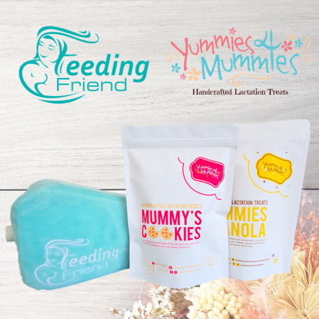 Feeding Friend Nursing Pillow & Lactation Treat Bundle